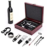 Vintage Collection Lever Wine Opener & Foil Cutter and 9 Piece Accessories Set, Open Wine With Ease Like a Pro, Everything You'll Ever Need in a Deluxe Wooden Box – Great Wine Lovers Gift for Any Occa For Sale