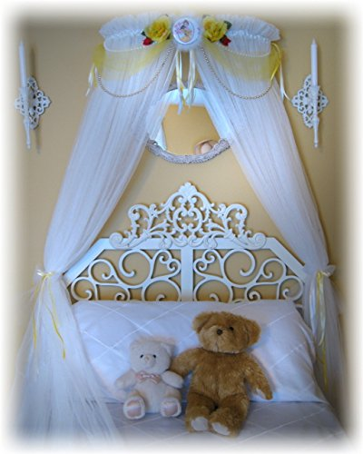 Disney Beauty and the Beast Belle Princess Bed Canopy for Bedroom Crib Nursery