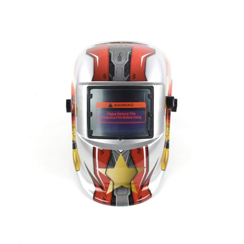 MTSBW Casco para soldar Energía Solar Oscurecimiento automático Campana Soldador Máscara Cascos de Pulido Transpirable con Rango de Sombra Ajustable: ...