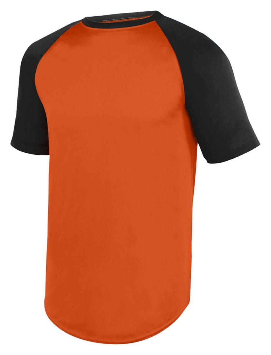 Augusta SportswearメンズWicking半袖野球ジャージー B01M5AM2LJ XXX-Large|オレンジ/ブラック オレンジ/ブラック XXX-Large