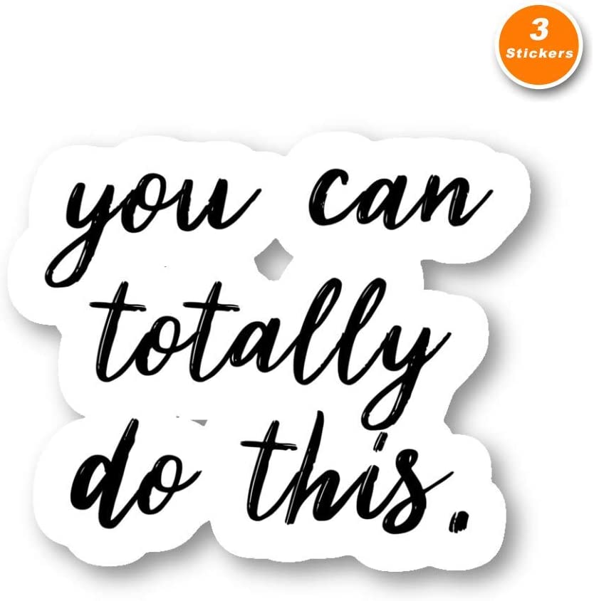 You Can Totally Do This Sticker Inspirational Quotes Stickers - 3 Pack - Set of 2.5, 3 and 4 Inch Laptop Stickers - for Laptop, Phone, Water Bottle (3 Pack) S212265