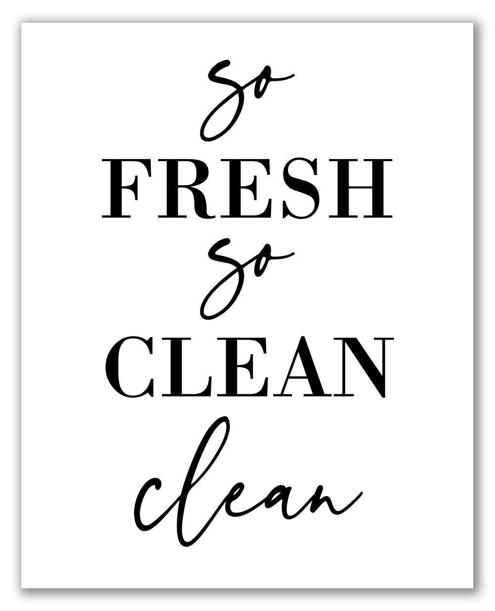 "Handmade ""So Fresh /& So Clean"" Farmhouse Bathroom Decor"