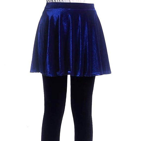 Señoras Hombres Chicas Básico Falda Minifalda Terciopelo Skater De ...
