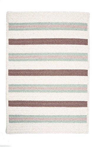 (Colonial Mills Allure Rectangular 3' x 5' Braided Modern Area Rug In Green Stripes)