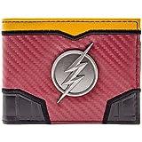 DC Flash Suit Up Silver Lightning Badge Red ID & Card Bi-Fold Wallet