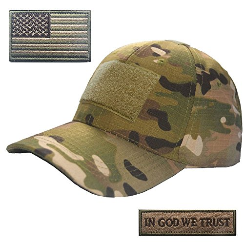 Lightbird Multicam Tactical Hat with 2 Pieces Military Patch