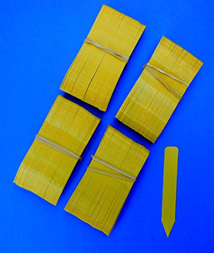 4000 Yellow Plastic Plant Stakes Labels Nursery Tags - Made in USA 4'' X 5/8'' by zry_ai