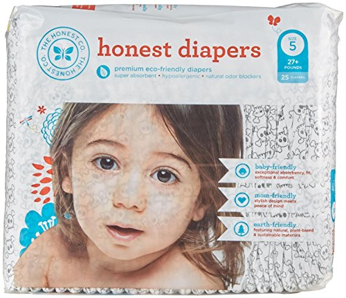 The Honest Company Disposable Diapers-Skulls-Size 5-25 Count (Honest Company Baby Vitamins compare prices)