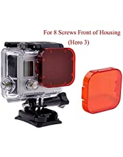 Yeholding Buceo Filtro Rojo para Gopro Hero 5Héroe 4Hero 3+ Hero3SJ4000y Otras cámaras de acción