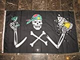 3x5 Pirate Skull With A Beer Happy Hour Party Rough Tex Knitted flag 3'x5' Banner with Grommets