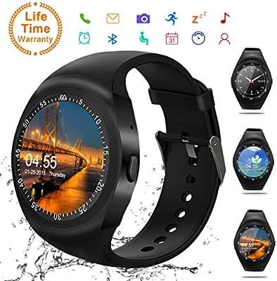 Android Smartwatch Bluetooth,Impermeable Reloj Inteligente,Bluetooth Tactil Telefono Smart Watch Sport Fitness Tracker Smartwatches Pulsera ...