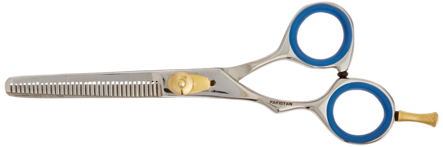 TAMSCO Thinning Shear 6-Inch Single Blade 32 Teeth Blade, Left Hand Semi-Convex Edge Japanese Stainless Steel Left Handed Single Blade Removes 33-Percent Of Hair 32 Teeth Blade B-522L