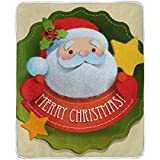 ALIREA Christmas Santa Claus Super Soft Warm Blanket Lightweight Throw Blankets for Bed Couch Sofa T