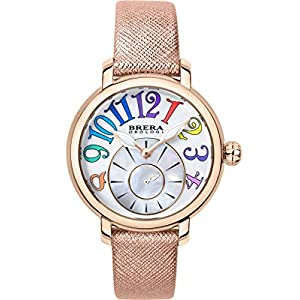 Brera Orologi Valentina Modern Women's Wrist Watch | BRVAMO3802-RGD-SAF – Rose Gold