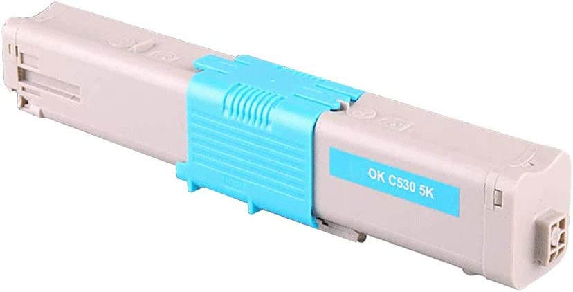 Cyan, 1 Pack Ninjatoner Compatible Toner Cartridge Replacement for Okidata 44469721 Used in Oki C510DN C530DN MC561DN Printers
