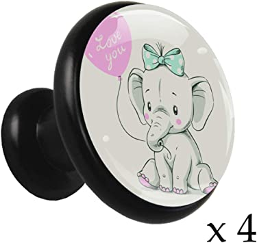 Elephant cabinet knobs furniture knobs with Elephant in Brass Metal Elephant Drawer knobs