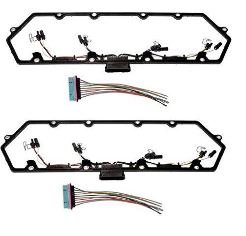 Pair 97-03 Powerstroke 7.3L Valve Cover Gasket w/Fuel Injector Glow Plug Harness