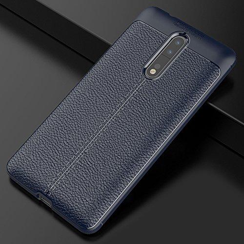 Nokia 8 Hülle, MSVII® Anti-Shock Weich TPU Silikon Hülle Schutzhülle Case Und Displayschutzfolie für Nokia 8 - Blau JY90143