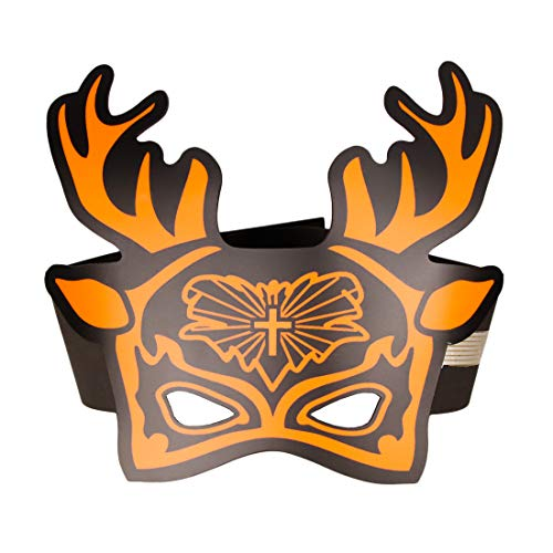 molezu LED Light Christmas Masks Music Voice Control Up Deer Mask, Cosplay Led Costume Elk Props for Adults and Teens Party(Antlers) White ()