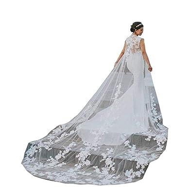 Kengtong Femme mariée Mariage Longue Cape église de mariée Mariage Cape  châle Manteau châle  Amazon.fr  Vêtements et accessoires 93ac09dda56f