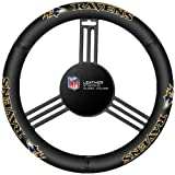 Fremont Die NFL Leather Steering Wheel Cover