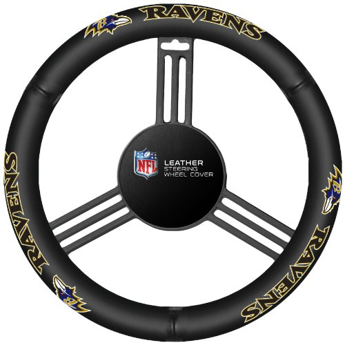 NFL Baltimore Ravens Leather Steering Wheel - Mall Baltimore