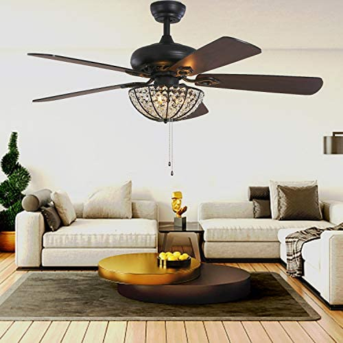 52 Inch Crystal Ceiling Fan
