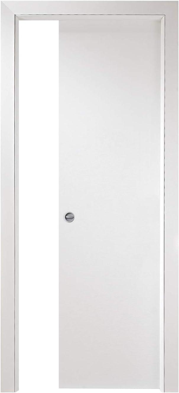 Puerta corredera interior pared Torino 400 N cm 210 x 80 Blanca: Amazon.es: Bricolaje y herramientas
