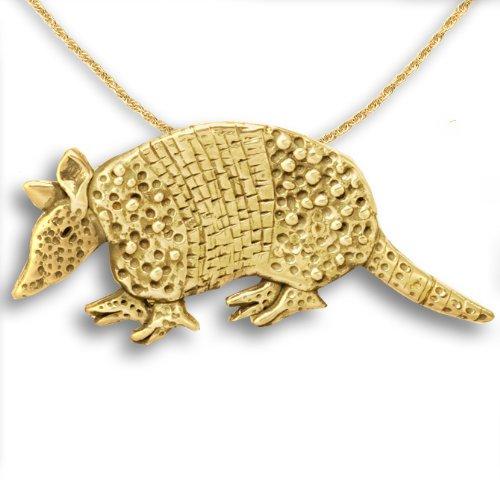 14k Gold Armadillo Pin Pendant by The Magic Zoo (Armadillo Costume)