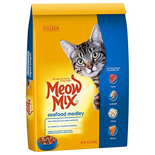 Meow Mix Seafood Medley Dry Cat Food, 14.2 lb