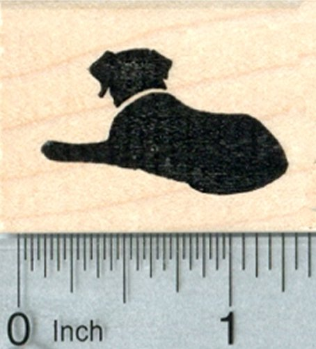 Dog Silhouette Rubber Stamp, Small