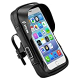 Goshfun Bike Bag Waterproof Frame Bag Bicycle Cell Phone Bag Bike Handlebar Bag with Touch Screen for iPhone X 8 7 Plus 6S 6 Plus 5S 5 / Samsung Galaxy S7 S6 Note 7, 6 Inch