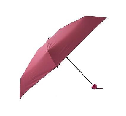 Paraguas plegable Ligero compacto Mini paraguas de viaje Mujeres paraguas de cinco cápsula paraguas Protección solar