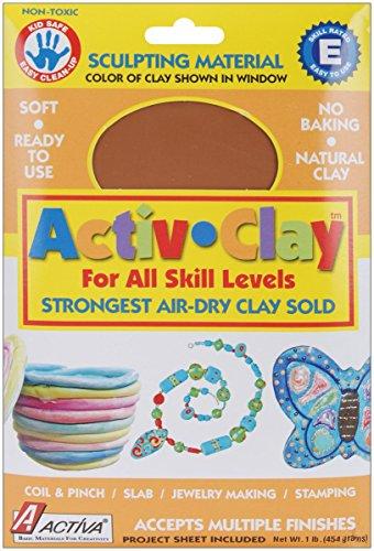 ACTIVA Activ-Clay, air dry, 1 pound Terra Cotta (Activ Clay)