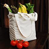 : Aunt Martha's 17-Inch by 14.5 -Inch Reusable Cotton Grocery Bag
