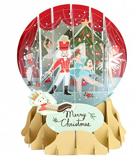 3D Pop Up Nutcracker Medium Snowglobe Christmas Card