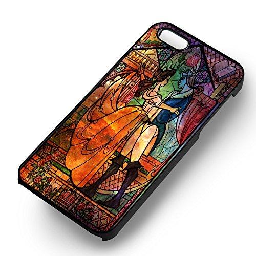 Princess Nebula Stained Glass pour Coque Iphone 6 et Coque Iphone 6s Case (Noir Boîtier en plastique dur) T5L2QW