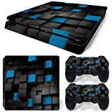 CSBC Skins Sony PS4 Slim Design Foils Faceplate Set - Pixel 2 Design