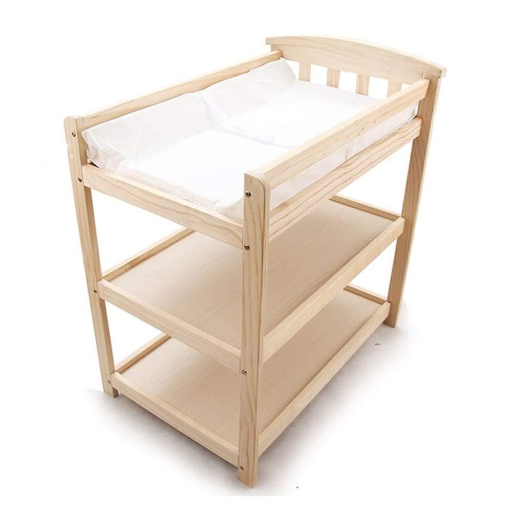 HANSHAN ベビーベッド ベビーベッド 、新生児おむつ交換台ローリングマッサージテーブルベビーシャワーテーブルオリジナルウッドカラー0-3歳33×23×39インチ   B07R5XCFW2