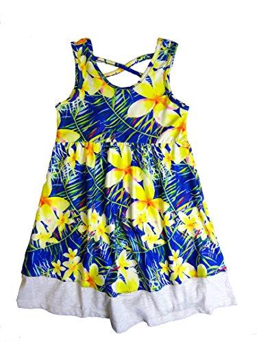 Maui Clothing Girls Cassia Plumeria Tank Dress (7) (Pocahontas Dress Up)