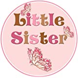 Mumsy Goose Little Sister Birth Announcement Sticker
