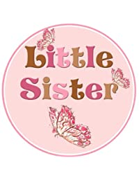 Mumsy Goose Little Sister Birth Announcement Sticker BOBEBE Online Baby Store From New York to Miami and Los Angeles