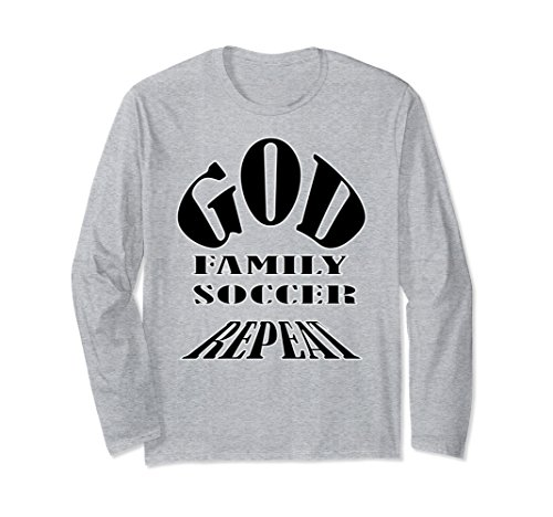 Unisex God Family Soccer Repeat XL: Heather Grey