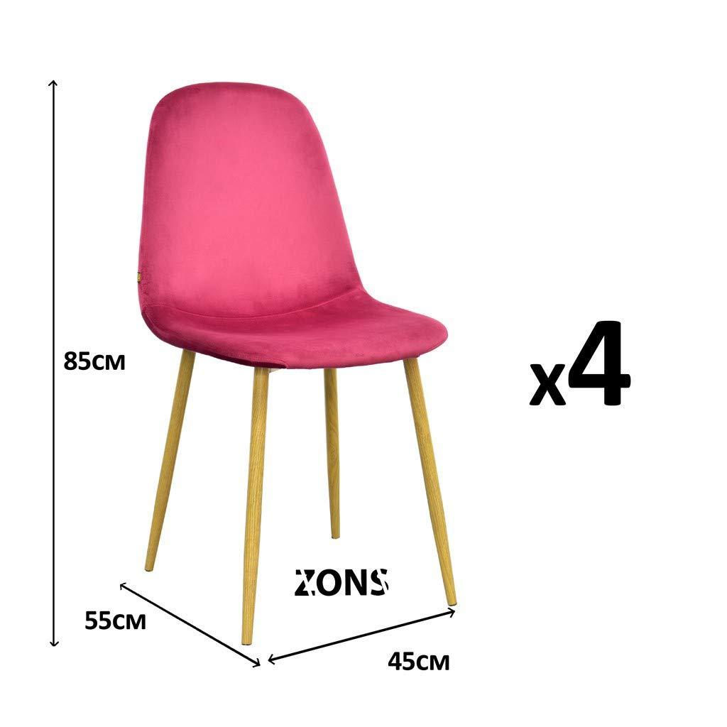 Zons Sedia, Bordeaux, 45x55x85 cm 436014LOT4