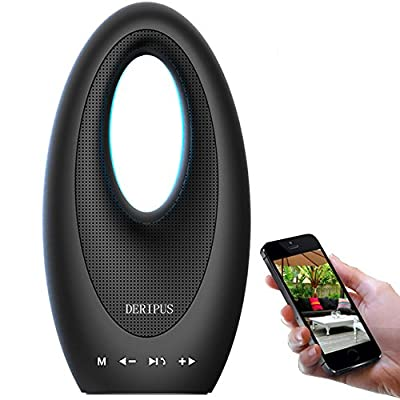 DERIPUS Touch Wireless Bluetooth Speakers , Ultra Portable Speaker with Superior Sound Quality and Dual Powerful Subwoofer Enhanced Rich Bass, Bluetooth 4.1 for iPhone, iPad and Android Phones (Black)