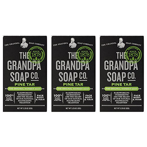 Grandpa's Pine Tar Bar Soap 3.25 Ounce (Pack of 3) (Best Pine Tar Soap)