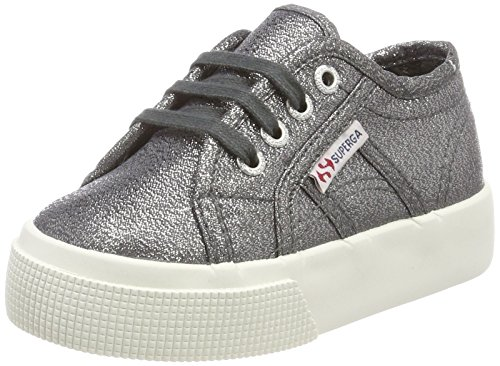 Superga Unisex-Kinder 2730 LAMEJ Sneaker Silber (Gunmetal)