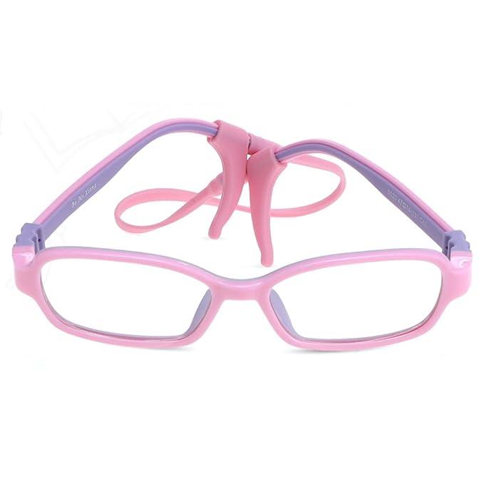 3e6aedeac7 Fantia Comfortable Children s Glasses Frame Kids Eyeglass Non-Slip Sling  Myopia Glasses ...