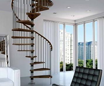 Mister Step - Escalera de caracol, modelo Gamia Wood, para interiores, de madera y acero: Amazon.es: Bricolaje y herramientas