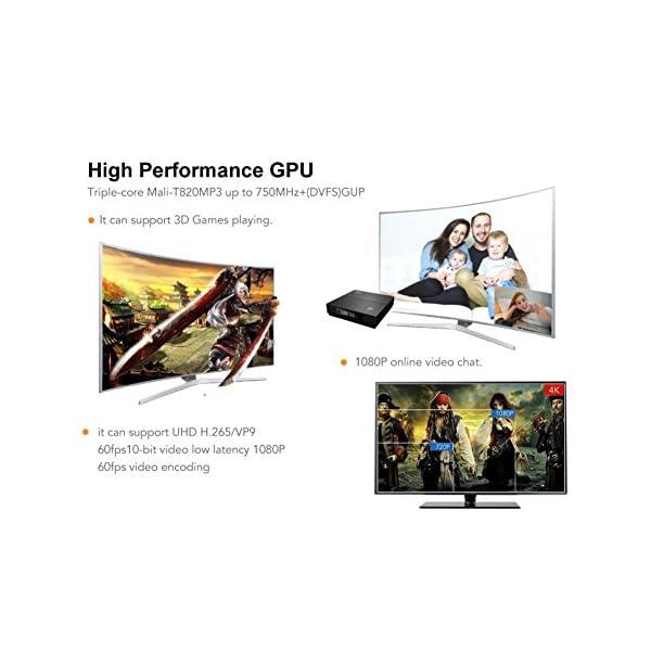 ESHOWEE TX92 Android 7 1 TV Box Amlogic S912 Octa-core CPU DDR3 3GB RAM  32GB ROM BT 4 0 2 4/5 Dual-Band WiFi 4K UHD and LaN VP9 DLNA H 265